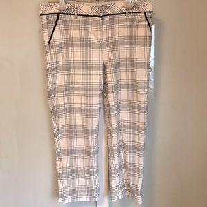 My Michelle Black/White Plaid Capris Pants